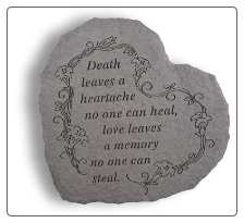 "Heartful Thoughts Memorial Stone - ""Death Leaves a Heartache . . . ."""