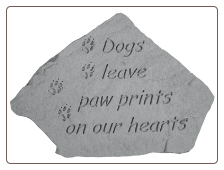 Dogs Leave Paw Prints - Garden Memorial Stone by Kay Berry