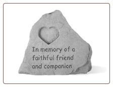 In Memory Stone with Heart Dog Tag by Kay Berry