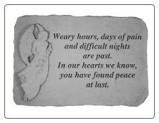 Angel Memorial Stones - Weary Hours, Days of Pain