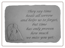 Angel Memorial Stones - They Say Time Heals All Sorrow