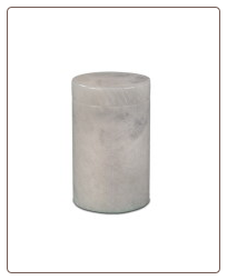 Cylinder White Marble Pet Urn