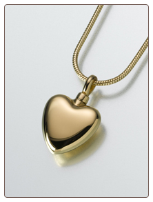 Small Gold Vermeil, Sterling Silver, 14K White or 14K Yellow Gold Heart Keepsake Pendant
