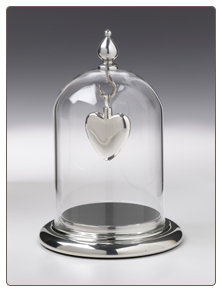 Pewter Glass Dome Replacement by Madelyn Company