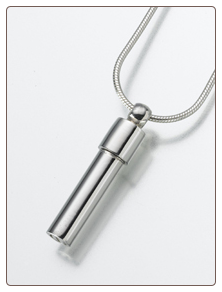 Sterling Silver, Gold Vermeil, 14K White or Yellow Gold Double Chamber Cylinder  Keepsake Pendant