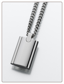 Stainless Steel Flask Pendant Keepsake Urn by Madelyn Company