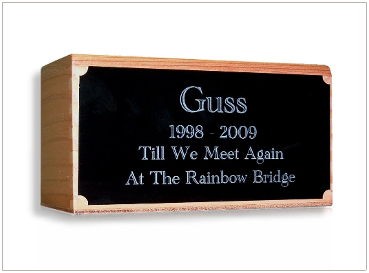 Medium Engraved Custom Redwood Urn