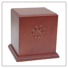 Paw Print Carving Pet Urn