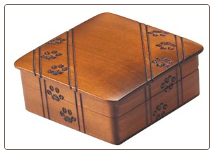 Paw Print Urn Brown Stain - Small