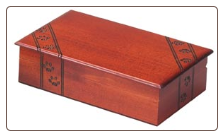 Paw Prints Wooden Pet Urn / Memory Box