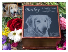 Photographic Marble Pet Urns