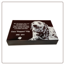 Photo Pet Monument Headstone & Grave Marker - Extra Heavy