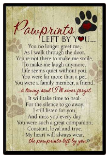Pawprints Memorial Pet Plaque
