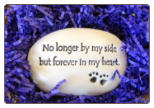 No Longer by my Side Ceramic Garden Rock for Dog Lover