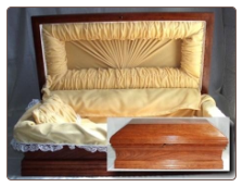 Royal Wood Casket: 24 inch