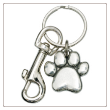 Sculpted Paw - Pewter Keychain