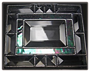 Sample of Beveled Top of Stained Glass Urn