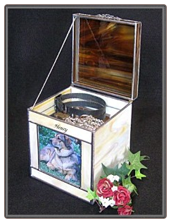 Keepsake Area of Stained Glass Urn