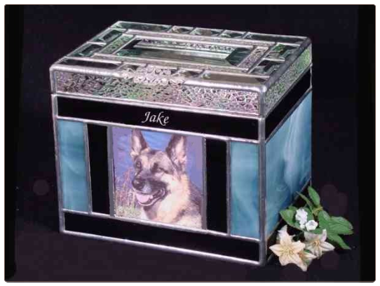 Stained Glass Pet Urn
