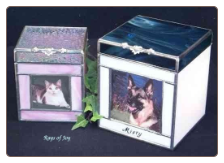 Stained Glass Photo Pet Urn