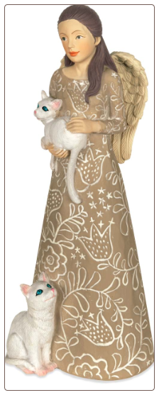 Cat or Kitten Memorial Angel Figurine