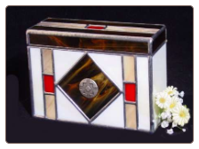 Stained Glass Southwestern Pet Urn