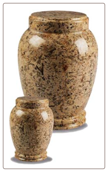 Plain Fossil Marble Urn
