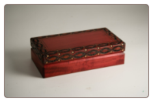 """A Polish Box Collection"" - Medium Traditional Pet Urn (deep cherry finish)"
