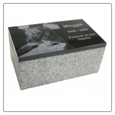 Photo Pet Monument Foot Marker - Flat Base