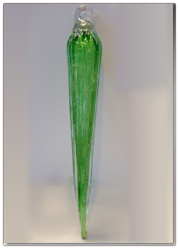 Emerald Green Icicle Glass Remembrance