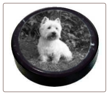 Black Marble Photo Paper Weight