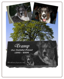 Personalized Sloped Granite Pet Marker - Extra Large