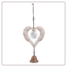 Angel Winged Heart with Bell Pet Memorial