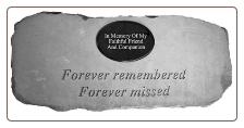 PERSONALIZED Garden Memorial Bench with Poem - 'Forever remembered, Forever missed'