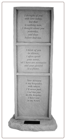 "Personalized Garden Memorial Stone Totem - ""I thought of you..."""