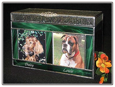 Companion Urn for Pets Stained Glass