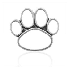 Monster Paw Pendant - Sterling Silver Dog Lover Jewelry