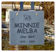 Engraved Slate Square Memorial with Graphic