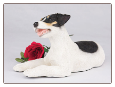 Jack Russell, Tri-Color Dog Figurine Garden Pet  Urn