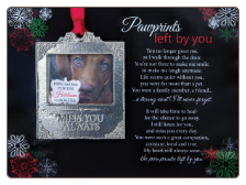 Pawprints Left By You Memorial Christmas Ornament