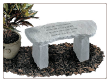 Garden Memorial Stone Bench - 'Those we have held . . . . .'