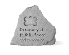 In Memory Stone with Bone Shaped Dog Tag by Kay Berry