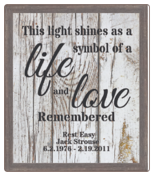 This Light Shines - Lighted & Personalized Pet Memorial