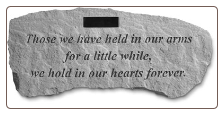 PERSONALIZED Garden Memorial Stone Bench with Poem - 'Those We Have Held . . . . . . .'
