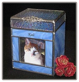 Cat Urn Stained Glass