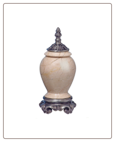Marble & Pewter Botticino Pet Urn