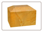 Rectangular Teakwood Marble Urn