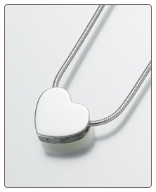 Sterling Silver, Gold Vermeil, 14K White or Yellow Gold Double Chamber Heart Keepsake Pendant