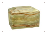 Rectangular Medium Green Onyx Marble Urn