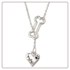 Bone Necklace - Heart Lariat